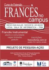 VOLTA AS AULAS FRANCÊS - 2016 - DIVULGAÇÃO